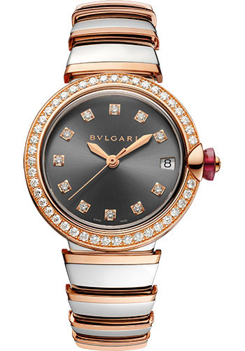 Bulgari Watches - Lucea 33 mm - Steel and Pink Gold - Style No: 103029