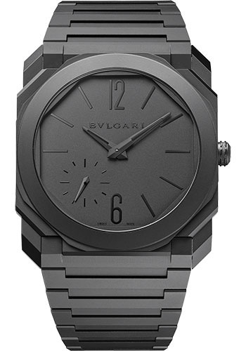 Bulgari Watches - Octo Finissimo - 40 mm - Black Ceramic - Style No: 103077