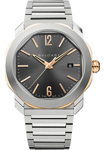 Bulgari Watches - Octo Roma - 41 mm - Steel and Rose Gold - Style No: 103083