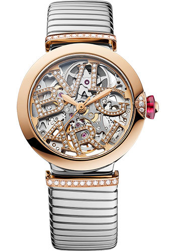 Bulgari Watches - Lucea 33 mm - Steel and Pink Gold - Style No: 103093