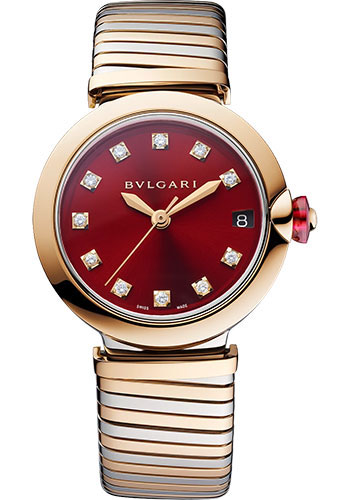 Bulgari Watches - Lucea 33 mm - Steel and Pink Gold - Style No: 103123
