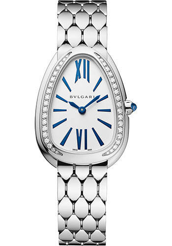 Bulgari Watches - Serpenti Seduttori - 33 mm - White Gold - Style No: 103148