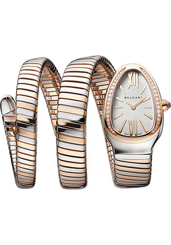 Bulgari Watches - Serpenti Tubogas - 35 mm - Steel and Rose Gold - Style No: 103149