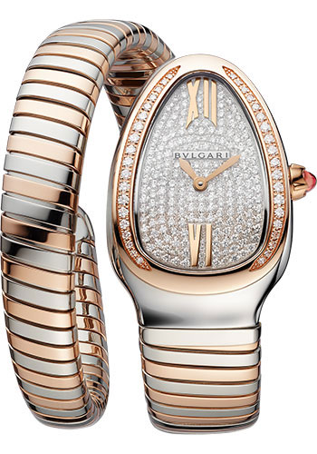 Bulgari Watches - Serpenti Tubogas - 35 mm - Steel and Rose Gold - Style No: 103150
