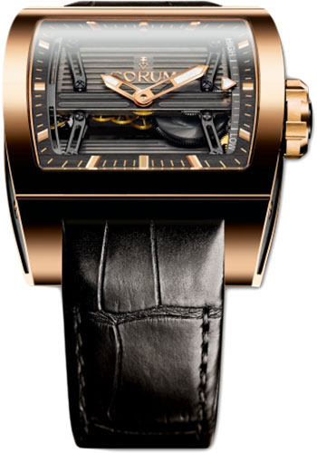 Corum Watches - Ti-Bridge 42 x 52 mm - Power Reserve - Red Gold - Style No: B107/01611 - 107.201.05/0F81 0000