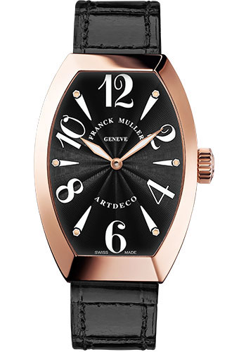 Franck Muller Watches - Art Deco 36 mm - Rose Gold - Style No: 11002 H QZ 5N Black