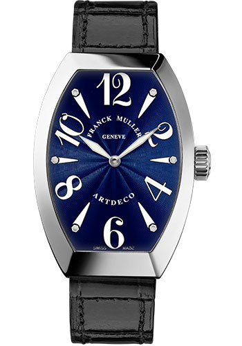 Franck Muller Watches - Art Deco 36 mm - White Gold - Style No: 11002 H QZ OG Blue