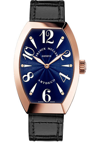 Franck Muller Watches - Art Deco 27 mm - Rose Gold - Style No: 11002 L QZ 5N Blue