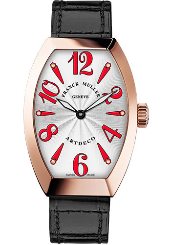 Franck Muller Watches - Art Deco 27 mm - Rose Gold - Style No: 11002 L QZ 5N White Red