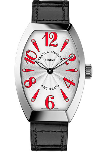 Franck Muller Watches - Art Deco 27 mm - White Gold - Style No: 11002 L QZ OG White Red