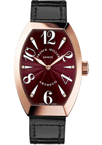 Franck Muller Watches - Art Deco 32 mm - Rose Gold - Style No: 11002 M QZ 5N Bordeau