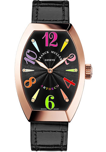 Franck Muller Watches - Art Deco 32 mm - Rose Gold - Color Dreams - Style No: 11002 M QZ COL DRM 5N Black