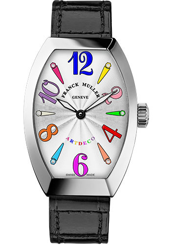 Franck Muller Watches - Art Deco 32 mm - White Gold - Color Dreams - Style No: 11002 M QZ COL DRM OG White