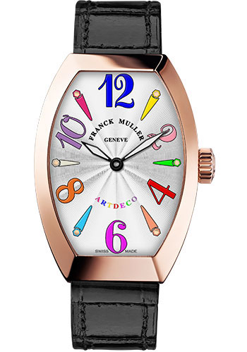 Franck Muller Watches - Art Deco 23 mm - Rose Gold - Color Dreams - Style No: 11002 S QZ COL DRM 5N White