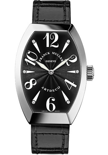 Franck Muller Watches - Art Deco 23 mm - White Gold - Style No: 11002 S QZ OG Black