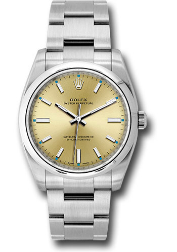 Rolex Watches - Oyster Perpetual No-Date 34mm - Domed Bezel - Style No: 114200 nchio