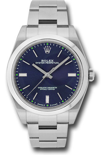 Rolex Watches - Oyster Perpetual No-Date 39mm - Domed Bezel - Style No: 114300 blio