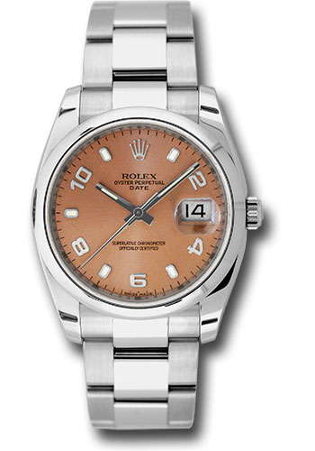 Rolex Watches - Date 34mm Domed Bezel - Oyster Bracelet - Style No: 115200 pao