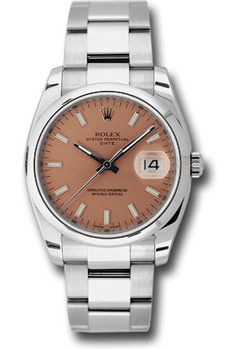 Rolex Watches - Date 34mm Domed Bezel - Oyster Bracelet - Style No: 115200 pio