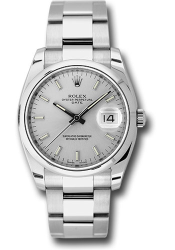 Rolex Watches - Date 34mm Domed Bezel - Oyster Bracelet - Style No: 115200 sio