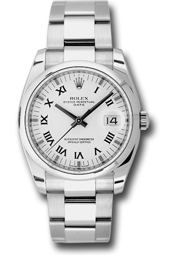 Rolex Watches - Date 34mm Domed Bezel - Oyster Bracelet - Style No: 115200 wro