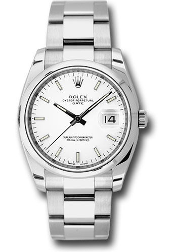 Rolex Watches - Date 34mm Domed Bezel - Oyster Bracelet - Style No: 115200 wio