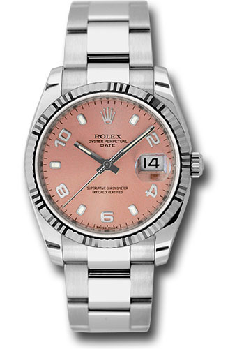 Rolex Watches - Date 34mm Fluted Bezel - Oyster Bracelet - Style No: 115234 pao