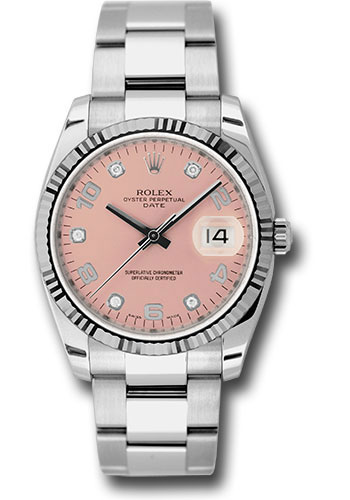 Rolex Watches - Date 34mm Fluted Bezel - Oyster Bracelet - Style No: 115234 pdo