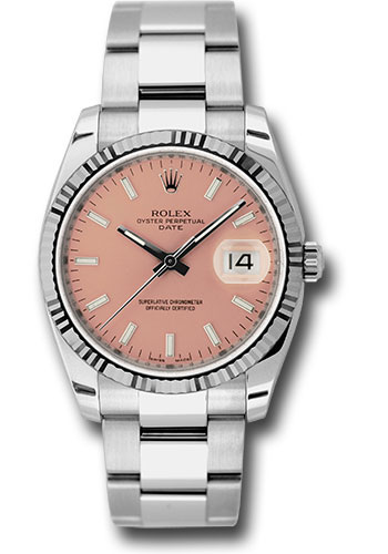 Rolex Watches - Date 34mm Fluted Bezel - Oyster Bracelet - Style No: 115234 pso