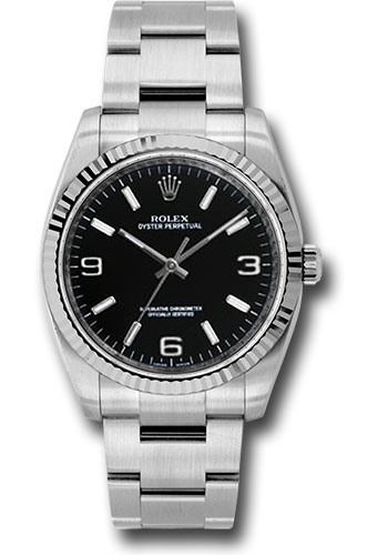 Rolex Watches - Oyster Perpetual No-Date 36mm - Fluted Bezel - Style No: 116034 bkaio