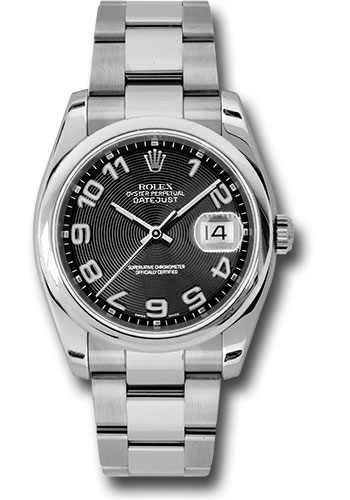 Rolex Watches - Datejust 36mm - Steel Domed Bezel - Oyster Bracelet - Style No: 116200 bkcao