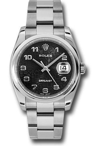 Rolex Watches - Datejust 36mm - Steel Domed Bezel - Oyster Bracelet - Style No: 116200 bkjao