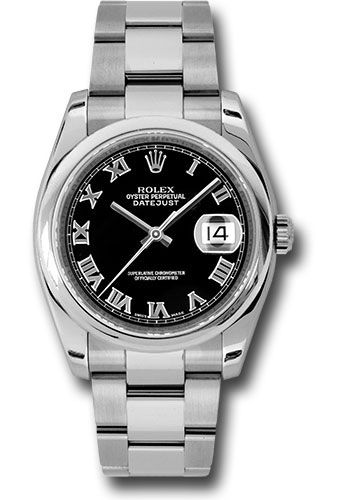 Rolex Watches - Datejust 36mm - Steel Domed Bezel - Oyster Bracelet - Style No: 116200 bkro