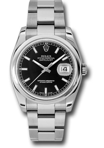 Rolex Watches - Datejust 36 Steel - Domed Bezel - Oyster - Style No: 116200 bkso