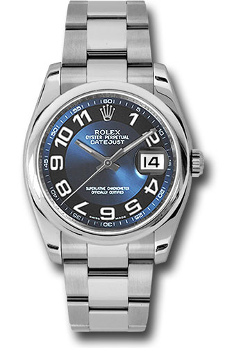 Rolex Watches - Datejust 36 Steel - Domed Bezel - Oyster - Style No: 116200 blbkao