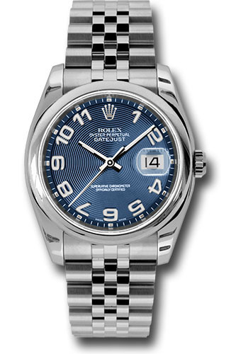 Rolex Watches - Datejust 36 Steel - Domed Bezel - Jubilee - Style No: 116200 blcaj