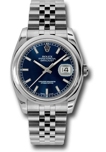 Rolex Watches - Datejust 36 Steel - Domed Bezel - Jubilee - Style No: 116200 blsj