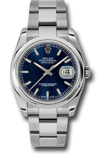 Rolex Watches - Datejust 36mm - Steel Domed Bezel - Oyster Bracelet - Style No: 116200 blso