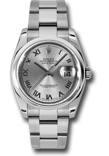 Rolex Watches - Datejust 36mm - Steel Domed Bezel - Oyster Bracelet - Style No: 116200 rro
