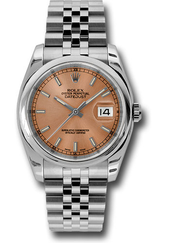Rolex Watches - Datejust 36 Steel - Domed Bezel - Jubilee - Style No: 116200 psj