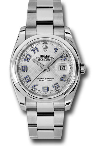 Rolex Watches - Datejust 36mm - Steel Domed Bezel - Oyster Bracelet - Style No: 116200 sdblao