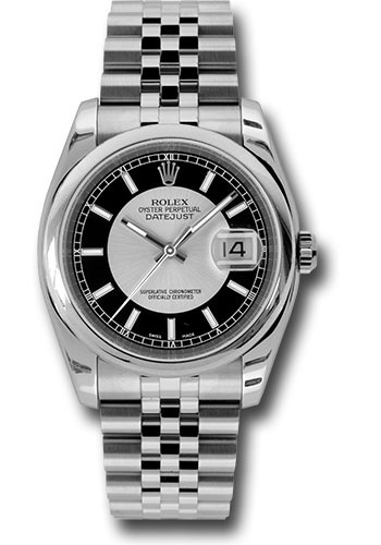 Rolex Watches - Datejust 36 Steel - Domed Bezel - Jubilee - Style No: 116200 sibksj