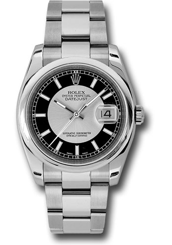 Rolex Watches - Datejust 36 Steel - Domed Bezel - Oyster - Style No: 116200 sibkso
