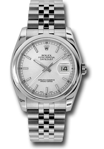 Rolex Watches - Datejust 36 Steel - Domed Bezel - Jubilee - Style No: 116200 ssj