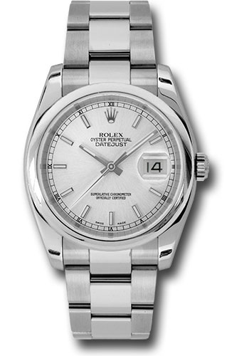 Rolex Watches - Datejust 36 Steel - Domed Bezel - Oyster - Style No: 116200 sso