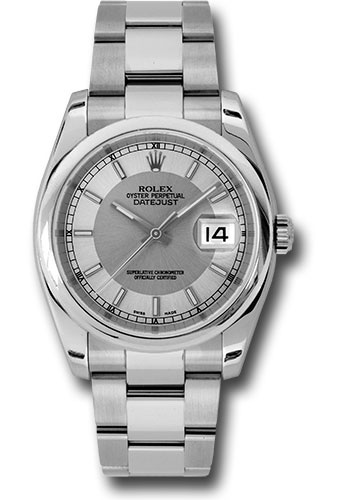 Rolex Watches - Datejust 36mm - Steel Domed Bezel - Oyster Bracelet - Style No: 116200 stsiso