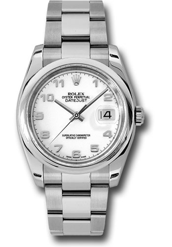 Rolex Watches - Datejust 36 Steel - Domed Bezel - Oyster - Style No: 116200 wao
