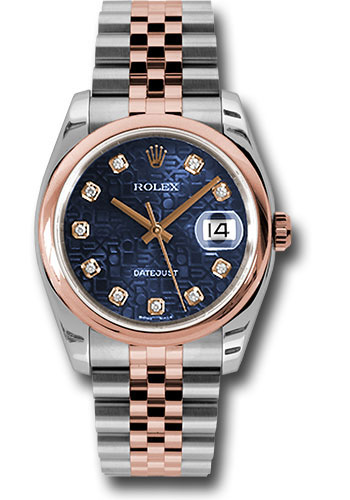 Rolex Watches - Datejust 36mm - Steel and Gold Pink Gold - Domed Bezel - Jubilee - Style No: 116201 bljdj