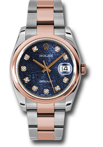 Rolex Watches - Datejust 36mm - Steel and Gold Pink Gold - Domed Bezel - Oyster - Style No: 116201 bljdo