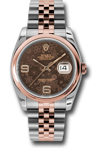 Rolex Watches - Datejust 36mm - Steel and Gold Pink Gold - Domed Bezel - Jubilee - Style No: 116201 brfdaj